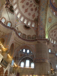 Blue Mosque tiled interior