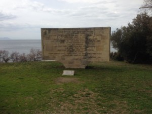 Monument at Anzac Cove