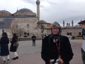 Ellie at Rumi's tomb