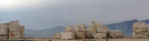 blocks of marble