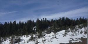 snow in Taurus mts