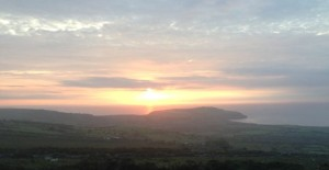 Sunset over Dinas