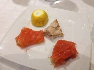 Salmon and smoked fish toast