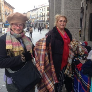 Julie buys a scarf from a gypsy woman
