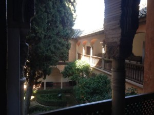 Interior courtyard