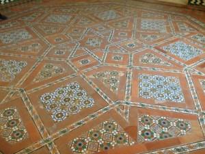 inlaid tile floor