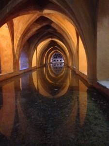 grotto beneath the gardens