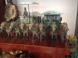 reproductions of bronze chariots